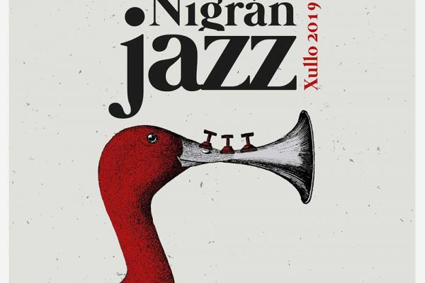 Detalle do cartel anunciador do NigranJazz 2019
