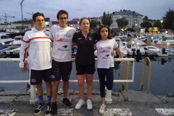 Marcos Martínez, Martín Carrera, Andrea Domínguez e Iria Lemos, do C.N. Ponteareas