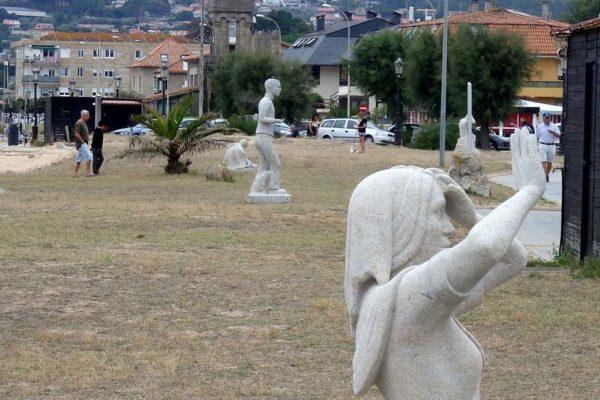 Exposición D'Pedra en Praia América, Nigrán