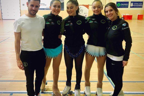 Edu Caride (adestrador), Lucia Soto, Daniela Rodríguez, Aldara Balboa e Erea Abalde