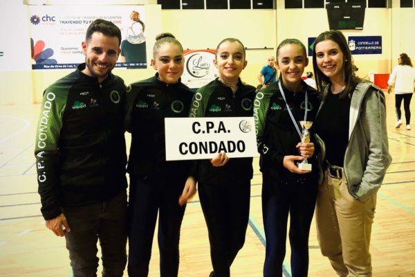 Edu Caride (adestrador), Maria de Sa, Zoe García; Alia Balboa e Erea Abalde