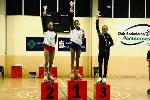 1ª Marta Lariño (Omega), 2ª Martina Creo (Omega), 3ª Alia Balboa (CPA Condado)