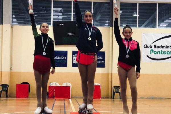 1ª Xiana Fernández (CPA Gondomar), 2ª Candela Gil (CPA Condado), 3ª Sabela Lourenzo (CPA Soutomaior)